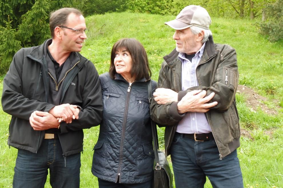 Marie Versini & Gojko Mitic beim Besuch der Freilichtbühne Mörschied