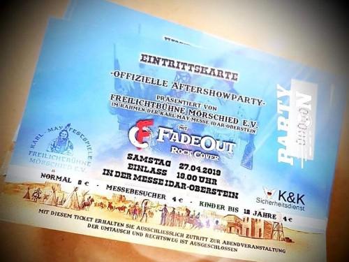 27.04.2019: Aftershow-Party der Karl May Messe mit FadeOut